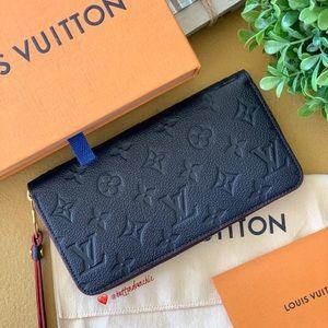 💕2019 Louis Vuitton Zippy Wallet Empreinte